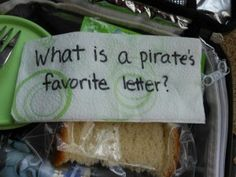 lunch box jokes for young kids -- there's a link with even more jokes.