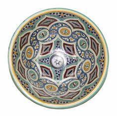 Vasque de lavabo marocain en céramique, 85 €