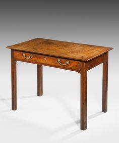 A Chippendale mahogany side table. Retaining an excellent colour and patination.