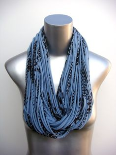 Burning Man Scarf Eco-Friendly Clothing Saphire Blue Brown Organic Necklace Chunky Cowl Jersey Circle Scarves Womens Mens Infinity Scarfs. $74.00, via Etsy.