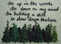 Bon Iver, Woods  and it's the correct lyrics.