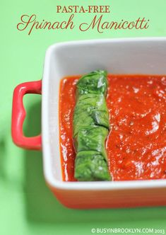 pasta-free spinach manicotti step-by-step tutorial