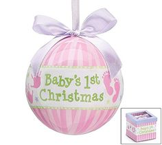 Baby's 1st Christmas Ornament, Pink Stripe, Hand Prints and Gift Boxed Burton & Burton http://www.amazon.com/dp/B00KADO00I/ref=cm_sw_r_pi_dp_WMusub1W5PFGY