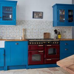 Colour Ideas: Red, White and Blue Rooms | Interiors (houseandgarden.co.uk)