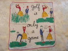 Kreier Vintage GOLF is only a Game Cotton Men's