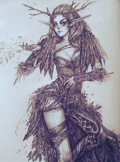game, character, world of warcraft, druid, night elf