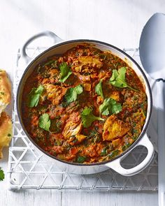 Our easy chicken tikka masala recipe uses lots of freezer staples, making it a brilliant dish to whip together last minute. Chicken Tikka Curry, Easy Chicken Tikka Masala, Spinach Curry, Indian Food Recipes, Ethnic Recipes, Delicious Magazine, Masala Recipe, Spinach Stuffed Chicken, Curry Recipes