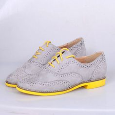 Flatbottomed vintage handsome fashion preppy style brockden lacing shoes flat heel lace up women oxfords / free shipping $29.80
