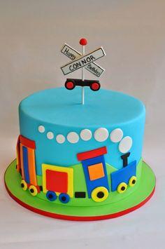 27 Inspiration Picture Of Train Birthday Cake Hopes Sweet Cakes Hopessweetcakes CoolBirthdayCakes