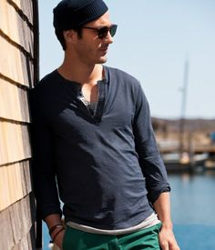 Going to check out this long-sleeved henley next.