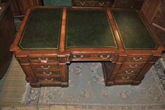 Walnut Bookcase, Partners Desk, Pedestal Desk, Old Desks, Antique Desk, Writing Table, Cupboard Doors, Furniture Storage, 19th Century