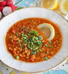 Here they are - Healthy Food Mom Veggie Recipes, Gourmet Recipes, Healthy Recipes, Czech Recipes, Ethnic Recipes, No Cook Appetizers, Food Film, Cooking Light Recipes, Red Lentil Soup