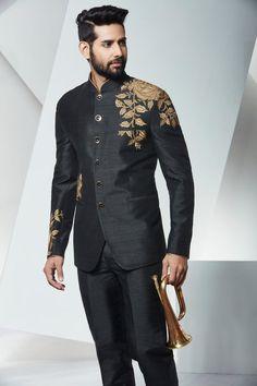 Jodhpuri Suits,Jodhpuri Dress For Men,Men Wedding Dresses,Indian Ethnic Wear,Indian Black - Wedding interests Wedding Dress Men, Wedding Men, Wedding Suits, Wedding Black, Casual Wedding, Wedding Groom, Spring Wedding, Wedding Attire, Wedding Couples