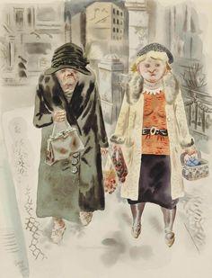 George Grosz (1904-1991) Strassenszene, Berlin Hausmadchen 1929 (60,3 x 48 cm)