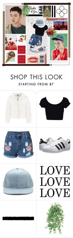 """""""D.O // Lucky One"""" by chensation7 ❤ liked on Polyvore featuring GUINEVERE, adidas Originals, LASplash, GALA, outfit, kpop, do, EXO and exok"""