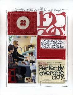 Scrapbook Layouts | Ali Edwards... love the doodling and journaling at top