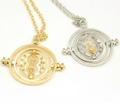 Harry Potter Rotation Time Turner Granger Hermione Bracelet Necklace Set – adelovees store