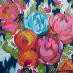 Floral Oil Painting by Kristy Gammill