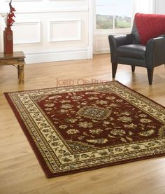 "XLarge New Quality Traditional Rugs Red rug carpet 200 x 290 cm (6'7"" x 9'6) Sherborne include Shipping to Highland"