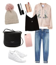 """""""a chilly night date🌙"""" by xabithavanessa on Polyvore featuring Lancaster, MANGO, Frame, Raey, adidas Originals, Links of London, Charlotte Tilbury, Marc Jacobs and Jocelyn"""