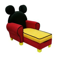 Mickey Mouse chair!  I would have had this for Kelcey's room had I know it was possible when she was a baby!