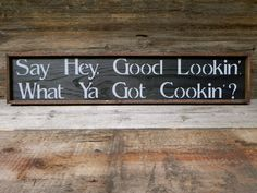 Kitchen Wall Decor Handmade Wood Sign Rustic by CrowBarDsigns, $35.00