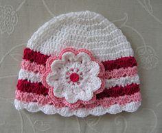 Jarní/podzimní čepička - bílá/malina/růžová Beanie, Hats, Fashion, Beanies, Moda, Hat, La Mode, Fasion, Fashion Models