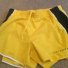 Nike Livestrong shorts Worn a handful of times great condition! Built in underwear. dri fit Nike Shorts