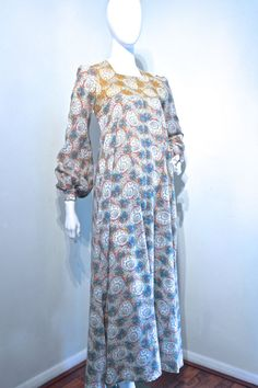 Vtg early 70s BIBA style romantic maxi by VicAndBertieVintage
