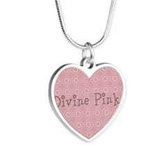 Chic Divine Pink Silver Heart Necklace