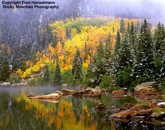 Bear Lake, Rocky Mountain National Park, C)  Can't wait to see the colors of Colorado this fall.