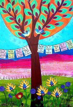 prayer flags 16x20  fine art poster by loriportka on Etsy