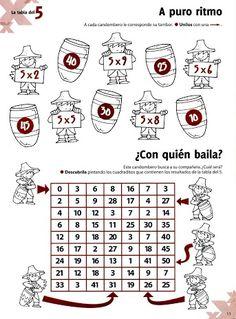 ACTIVIDADES FOTOCOPIABLES PARA NIVEL PRIMARIO: Multiplicación-Tablas.
