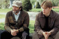 "> Directed by: Gus Van Sant> Starring: Robin Williams, Matt Damon, Ben Affleck""Good Will Hunting"" ro. - Courtesy of Miramax Good Will Hunting, Good Movies On Netflix, Sad Movies, Movies To Watch, Famous Movies, Movie Songs, Matt Damon, Ben Affleck, Robin Williams Death"