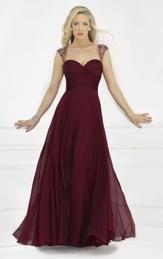 Sweetheart Chiffon Evening Gown by Morrell Maxie 14596 by Morrell Maxie