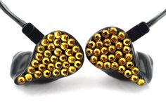 Santigold; JH16 Black Solid with Gold Rhinestones. #JHAudio