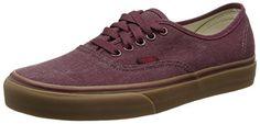 Vans Authentic, Unisex-Erwachsene Lauflernschuhe Sneakers, Rot (washed Canvas/port Royale/gum), 40 EU - http://on-line-kaufen.de/vans/40-eu-vans-authentic-unisex-erwachsene-sneakers-83