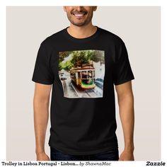 Trolley in Lisboa Portugal - Lisbon Streetcar T-shirt