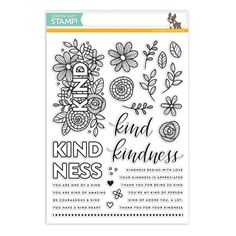 Simon Says Clear Stamps KIND FLOWERS SSS101712