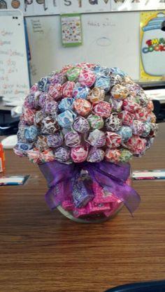 Dum Dums Candy Bouquet with Nerds