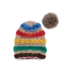 TO CELEBRATE CANADA'S 150TH YEAR in 2017, GŌBLE CREATED THE CANADIANA COLLECTION.   KNIT BEANIE CAP FOR WOMEN IN CANADIANA PRAIRIES - SLOUCHY HAT  The GŌBLE women knit beanie cap is a luxurious blend of Wool, Alpaca, Silk and Mohair THIS KNIT BEANIE CAP FEATURES:   Fox Fur Snap-Off Pom Polar Fleece Lining Cozy Construction  One Size HAND KNIT IN CANADA GOBLE.CA