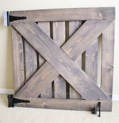 Handmade Wood Baby Gate, Pet Gate for any opening, Latch release and wall mounted easy open! Wood Baby Gate, Baby Gate For Stairs, Barn Door Baby Gate, Diy Baby Gate, Wood Barn Door, Baby Gates, Dog Gates, Barn Doors, Extra Wide Pet Gate