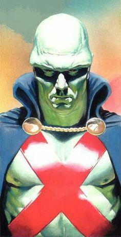 Jonn Jonnz the Martian Manhunter by Alex Ross Marvel Vs, Marvel Comics, Dc Comics Art, Fun Comics, Comic Book Artists, Comic Book Heroes, Comic Artist, Comic Books Art, Alex Ross