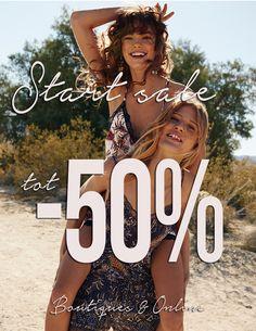 Start Sale met kortingen tot -50%!