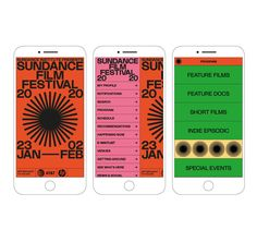 Studio Lowrie's Sundance Film Festival identity proves small studios can take on projects of any scale Festival Logo, Design Festival, Leaflet Design, Event Branding, Grid, Layout, Sundance Film Festival, Mobile App Design, Grafik Design