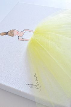 Little princess in tutu  hand painted canvas by ShenasiConcept