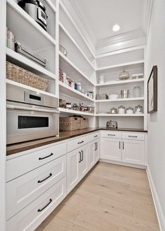 White Oak Kitchen, Clear Bins, Bathroom Cabinetry, Cabinets, Pantry Design, Building A New Home, Visual Comfort, Walk In Pantry, Home Decor Bedroom