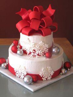 beautiful holiday cakes | christmas wedding cake my very first wedding cake for a christmas ...