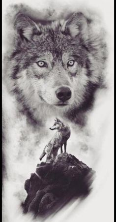 Wolf Sleeve, Wolf Tattoo Sleeve, Black Ink Tattoos, Black And Grey Tattoos, Wolf With Red Eyes, Wolf Girl Tattoos, Wolf Time, Husky Drawing, Wolf Artwork