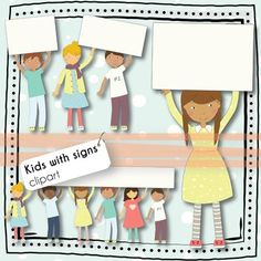 Freebie Kids With Signs